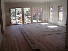 french doors to rear decking area