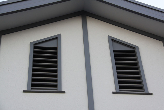 Custom made roof space vents.