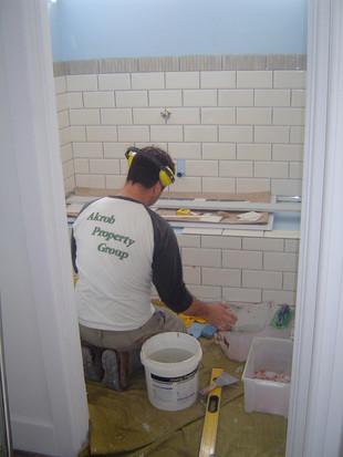 subway tile installation
