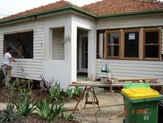 replacing windows to front facade
