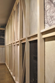 timber frames to display stone slabs