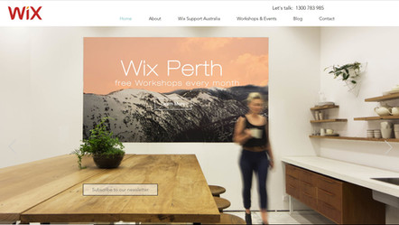 Wix Perth website