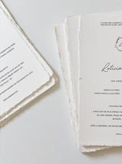 Convite de Casamento em Carta Amalfi