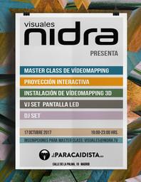 Cartel Visuales Nidra  El Paracaidista
