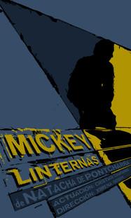 Cartel obra de teatro Mickey Linternas