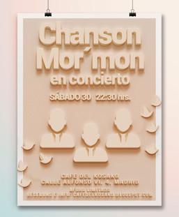 "Poster concierto, Banda ""Chanson Mormon"""