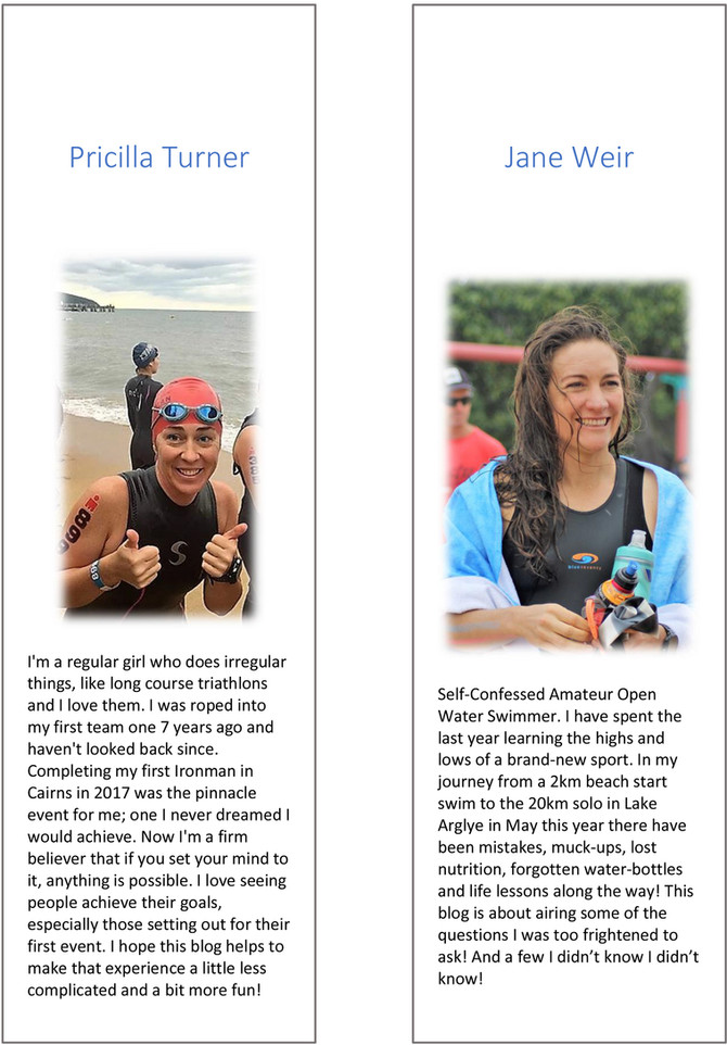 The Tri-ingAthletes Guide to Questions You should really ask. Part 1 - The Swim