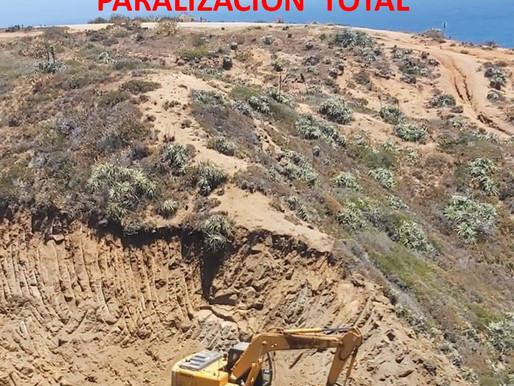 Se paralizan obras en el sector sur de la playa de Tunquén