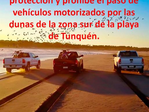 EXTRAORDINARIO LOGRO: Corte prohíbe desplazamientos motorizados en campo dunas de Tunquén