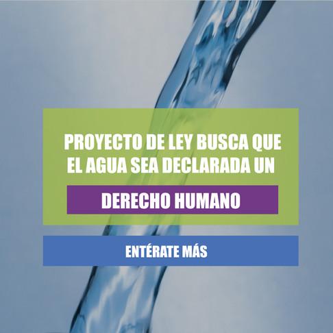 El agua no es un bien privado