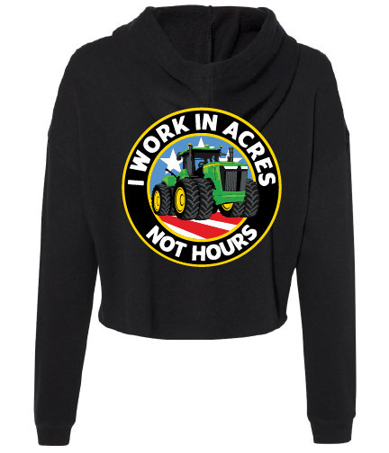 NYFG - Acres Not Hours - Cropped Hoodie