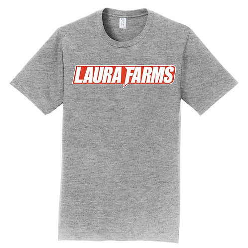 Laura Farms - Red/White Logo Short-Sleeve Tee