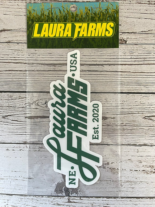 Laura Farms - Logo Sticker (Green)