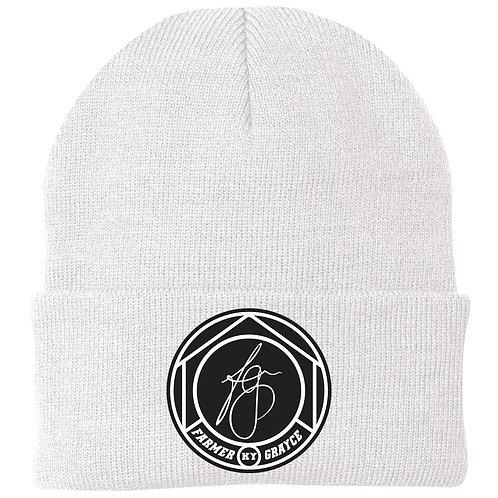 Farmer Grayce - Knit Cap (White)