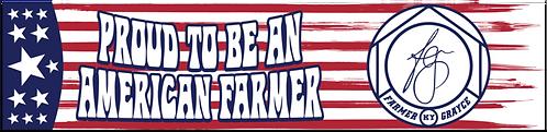 Farmer Grayce - Proud American Farmer - Magnet