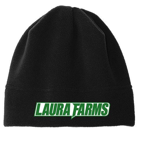 Laura Farms - Fleece Beanie (Black/Green/White)