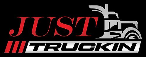JustTruckin - Large Sticker