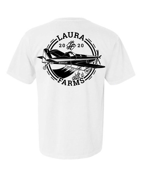 Laura Farms - Adult Tee - Plane Design (White)