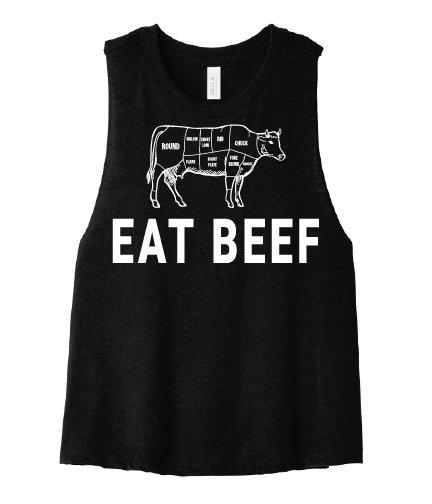 NYFG - Eat Beef Cropped Tee