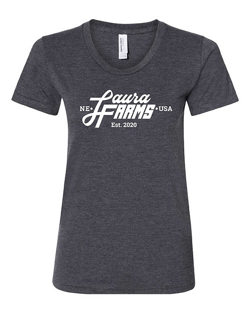 Women's Tee - Heather Black - Brand Logo