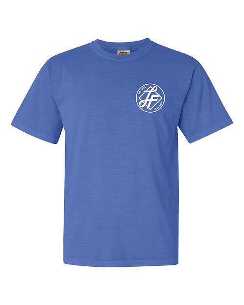 Laura Farms - Adult Logo Tee (Flo Blue)
