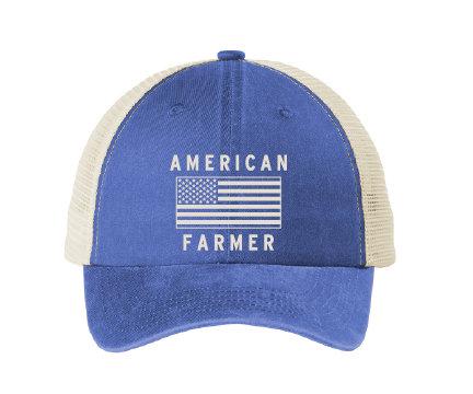 NYFG - American Farmer - Beach Wash Mesh Back Cap
