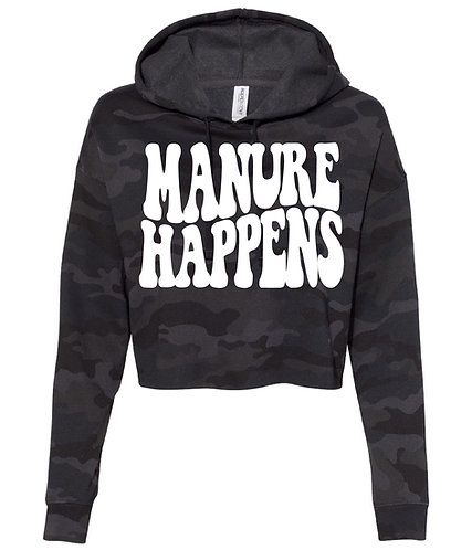 NYFG - Manure Happens Cropped Hoodie