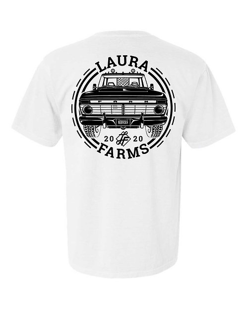 Laura Farms - Adult Tee - Old Truck Design (White)