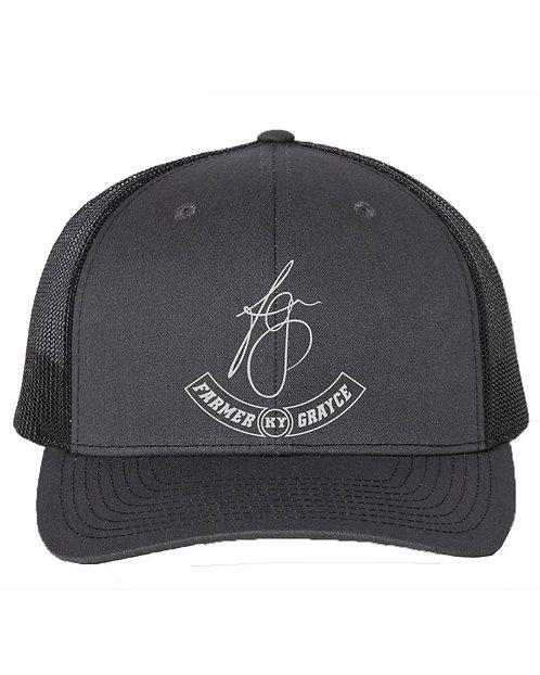 Farmer Grayce - Richardson Snapback Trucker Cap (Charcoal/Black)