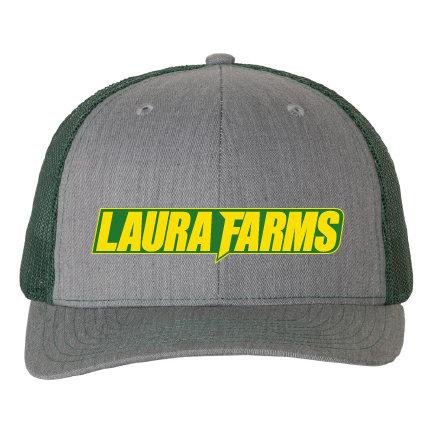 Laura Farms - Richardson Snapback Trucker Logo Cap (Heather Grey/Dark Green)