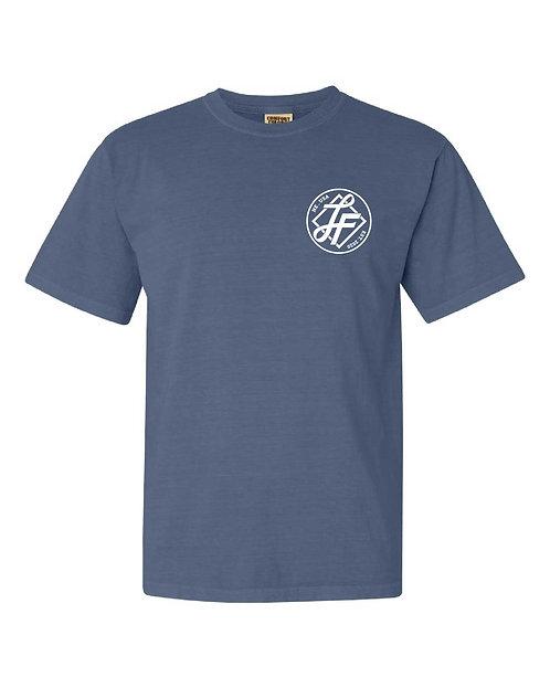 Laura Farms - Adult Logo Tee (Blue Jean)