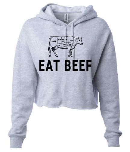 NYFG - Eat Beef - Cropped Hoodie