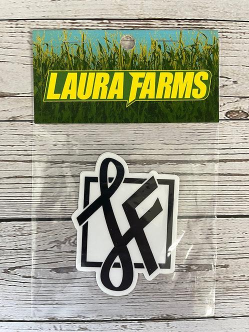 Laura Farms - Icon Sticker (Black)