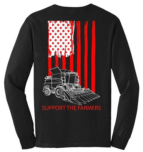Laura Farms - Support The Farmers - Team Case IH - Long-Sleeve Tee