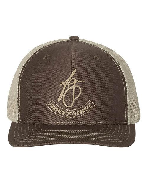 Farmer Grayce - Richardson Snapback Trucker Cap (Brown/Khaki)