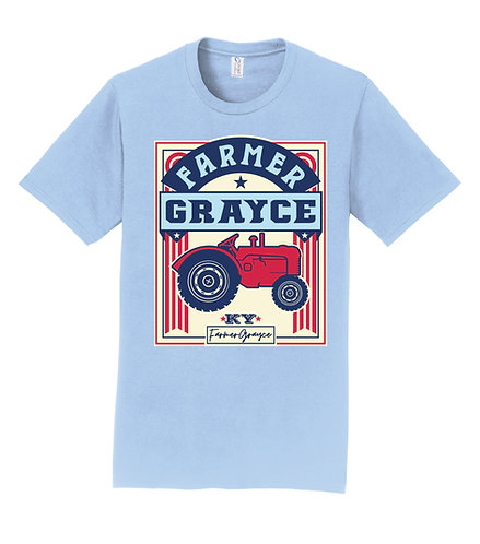 Farmer Grayce - Short-Sleeve Tractor Tee