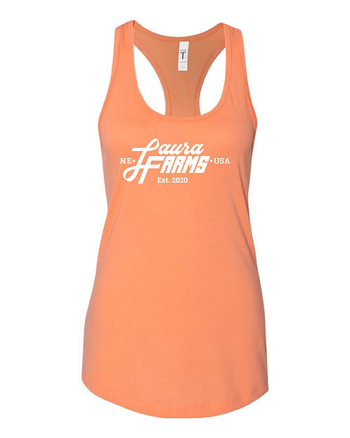 Laura Farms - Women's Racerback Tank (Light Orange)