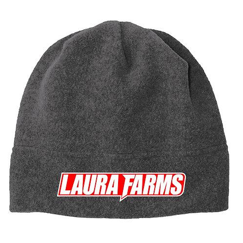 Laura Farms - Fleece Beanie (Grey/White/Red)
