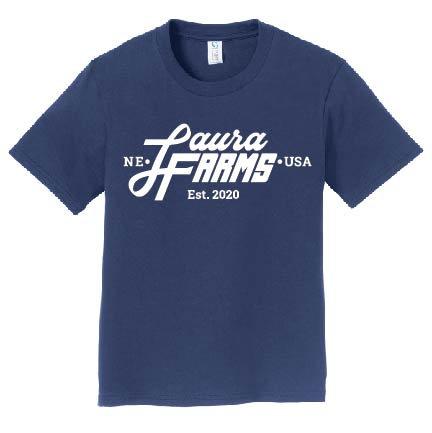 Laura Farms - Youth Logo Tee (Navy)