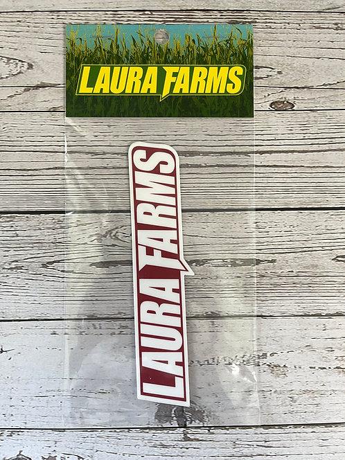 Laura Farms - Logo Sticker (Red/White)