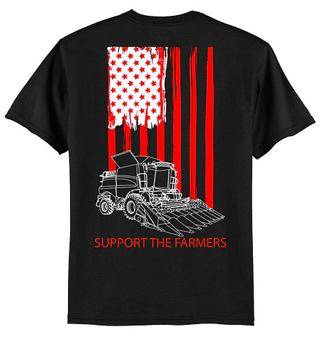 Laura Farms - Support The Farmers - Short-Sleeve Tee (Red/White)