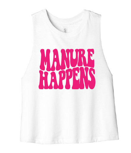 NYFG - Manure Happens Cropped Tee