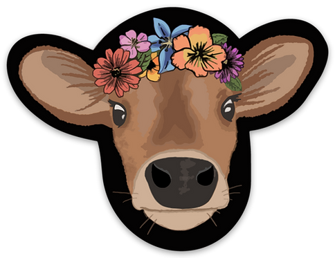 NYFG - Jersey With Flower Crown Sticker