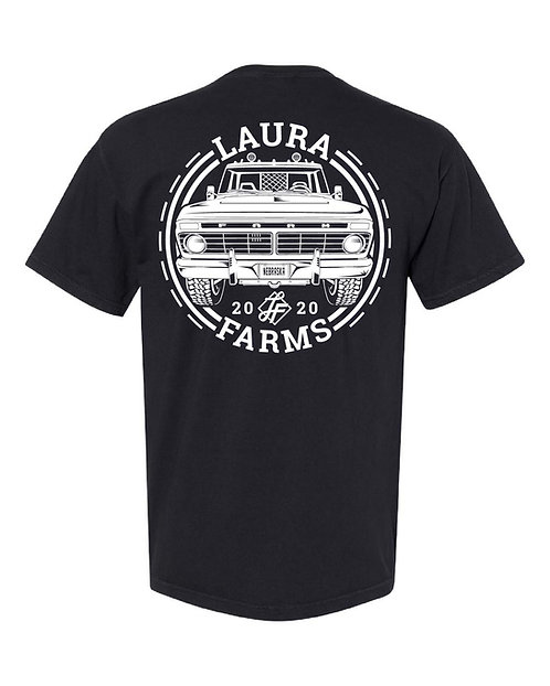 Adult Pocket Tee - Old Truck  - Black