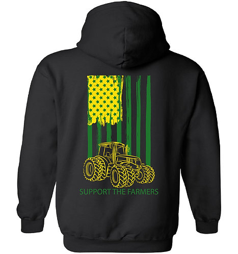 Laura Farms - Support The Farmers - Hoodie (Green/Yellow)