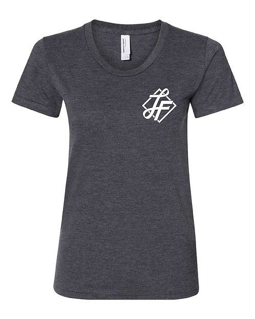 Women's Tee - Heather Black - Icon Logo