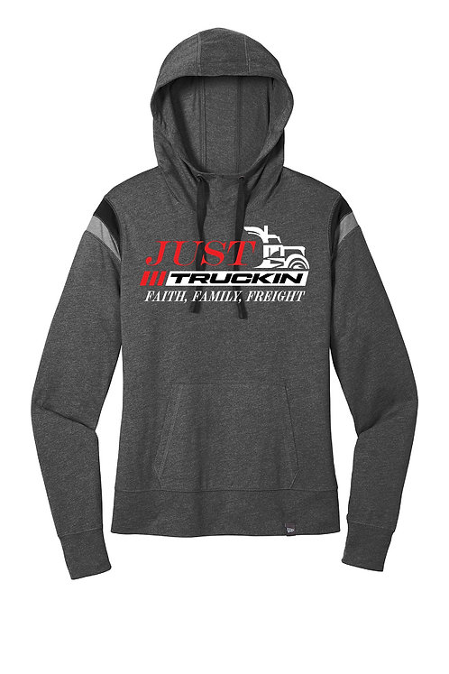 JustTruckin - New Era Ladies Heritage Hoodie (Black)