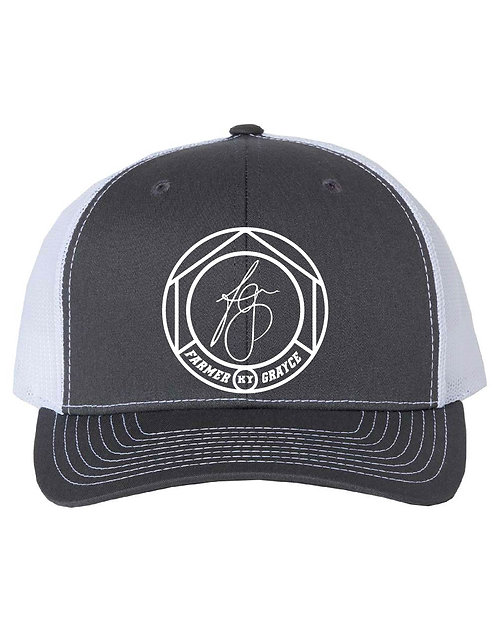 Farmer Grayce - Richardson Snapback Trucker Cap (Charcoal/White)