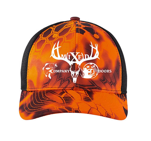 MCO - Camouflage Mesh Back Snapback Cap - Inferno