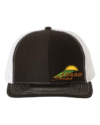 LEAAD Farms - Richardson Snapback Trucker Cap (Black/White)